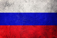 Grunge Russia flag. Russian flag with grunge texture. Royalty Free Stock Photo