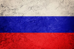 Grunge Russia flag. Russian flag with grunge texture. Royalty Free Stock Images