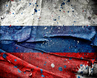 Grunge Russia flag Royalty Free Stock Photos