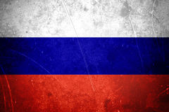 Grunge Russische vlag Royalty-vrije Stock Foto's
