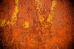 Grunge rust. Closeup of a rusty metal surface Stock Photos