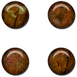 Grunge Rust Web Button Stock Images