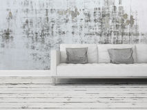 Grunge rustic greyscale interior background Stock Photos