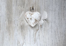 Grunge rustic heart Stock Photos