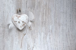 Grunge rustic heart Royalty Free Stock Image