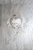 Grunge rustic heart Stock Photography