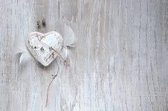 Grunge rustiek hart royalty-vrije stock afbeelding