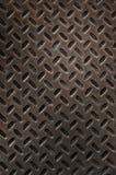 Grunge Rusty Diamond Plate Stock Image