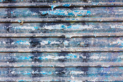 Grunge rusty iron door texture with stripes Royalty Free Stock Images