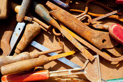 Grunge rusty messy hand tools Stock Photo