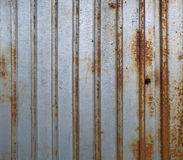 Grunge rusty metal fence texture Royalty Free Stock Photos
