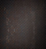 Grunge rusty metal grid background Stock Images