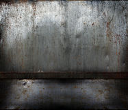 Grunge rusty metal room Stock Images