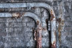 Grunge Rusty Pipes royalty free stock photos