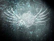 Grunge Rusty Wings Stock Photo