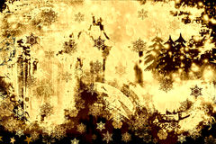 Grunge and rusty winter Stock Images