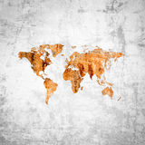 Grunge rusty world map Stock Images