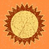 Grunge słońce Zdjęcia Stock