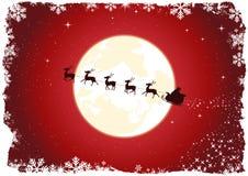 grunge s圣诞老人雪橇 库存照片