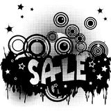 Grunge sale advertisement with circles and spots Royalty Free Stock Photo