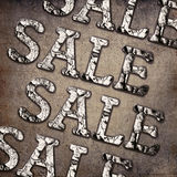 Grunge sale background Royalty Free Stock Images