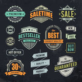 Grunge sale emblems Stock Photos
