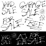Grunge Sales Signs Set Royalty Free Stock Photo