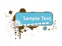Grunge sample text Royalty Free Stock Image