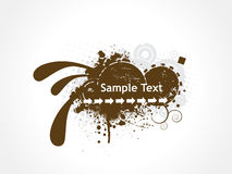 Grunge sample text Stock Image
