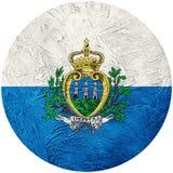 Grunge San Marino flag. San Marino button flag Isolated on white. Background. Button flag Stock Images