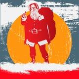 grunge Santa ilustracja wektor