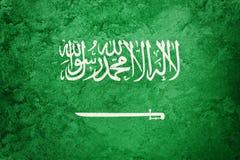 Grunge Saudi Arabia flag. Saudi Arabia flag with grunge texture. Stock Photos