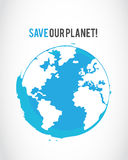 Grunge save the planet poster Royalty Free Stock Photo