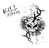 Grunge Schädel-Hintergrund Lizenzfreies Stockbild