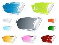 Grunge Schalen-Einzelverkaufsaufkleber Stockfoto