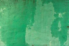 Grunge schilderde Concrete Textuur - Uitstekende Natte Groene Muur royalty-vrije stock foto's