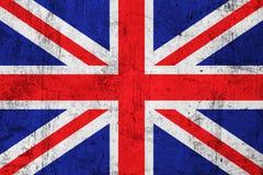 Grunge schmutzige britische Markierungsfahne Stockfotografie