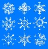 Grunge Schneeflocken Lizenzfreies Stockfoto