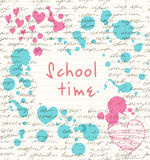 Grunge school banner  Vintage scholl background Stock Photography