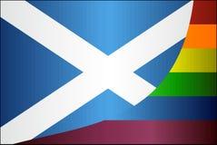 Grunge Schotland en Vrolijke vlaggen Royalty-vrije Stock Foto