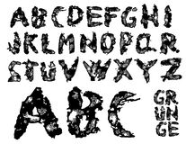 Grunge Schrifttypvektor Lizenzfreie Stockbilder