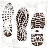 Grunge Schuh spürt Trio auf stock abbildung