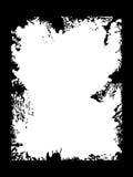 Grunge schwarzes Feld Stockbilder