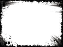 Grunge schwarzes Feld Stockfotos