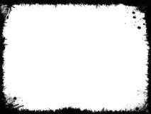 Grunge schwarzes Feld Stockfoto