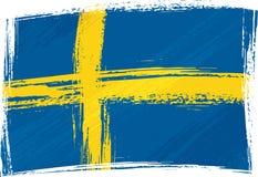 Grunge Schweden Markierungsfahne Stockfotografie