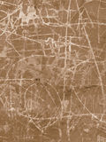 Grunge_scratch_brown_wall. Brown scratching grunge wall with scrawl Stock Photos