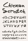 Grunge scratch type font, vintage typography Stock Photo
