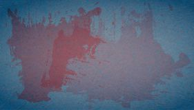 Grunge, scratched blue background with red spots of paint. Illustration of abstract, textured backdrop with marble paper effect. Perfect for text and other vector illustration