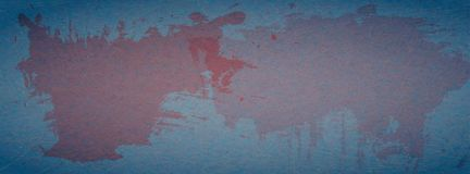 Grunge, scratched blue background with red spots of paint. Illustration of abstract textured backdrop with marble paper effect. Perfect for Facebook cover stock illustration